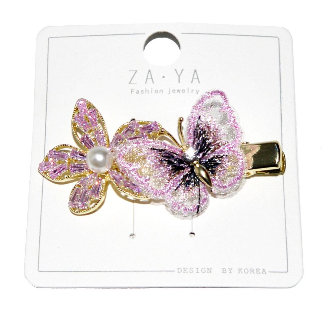 """Зажим для волосся """"метелик+квітка"""""""