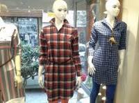 Женская рубашка платье с рукавами P.O.L.O длинное теплое в клетку Одесса