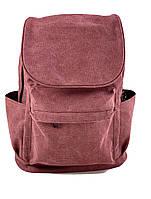 Бордовый большой рюкзак мужской тканевый, фото 1
