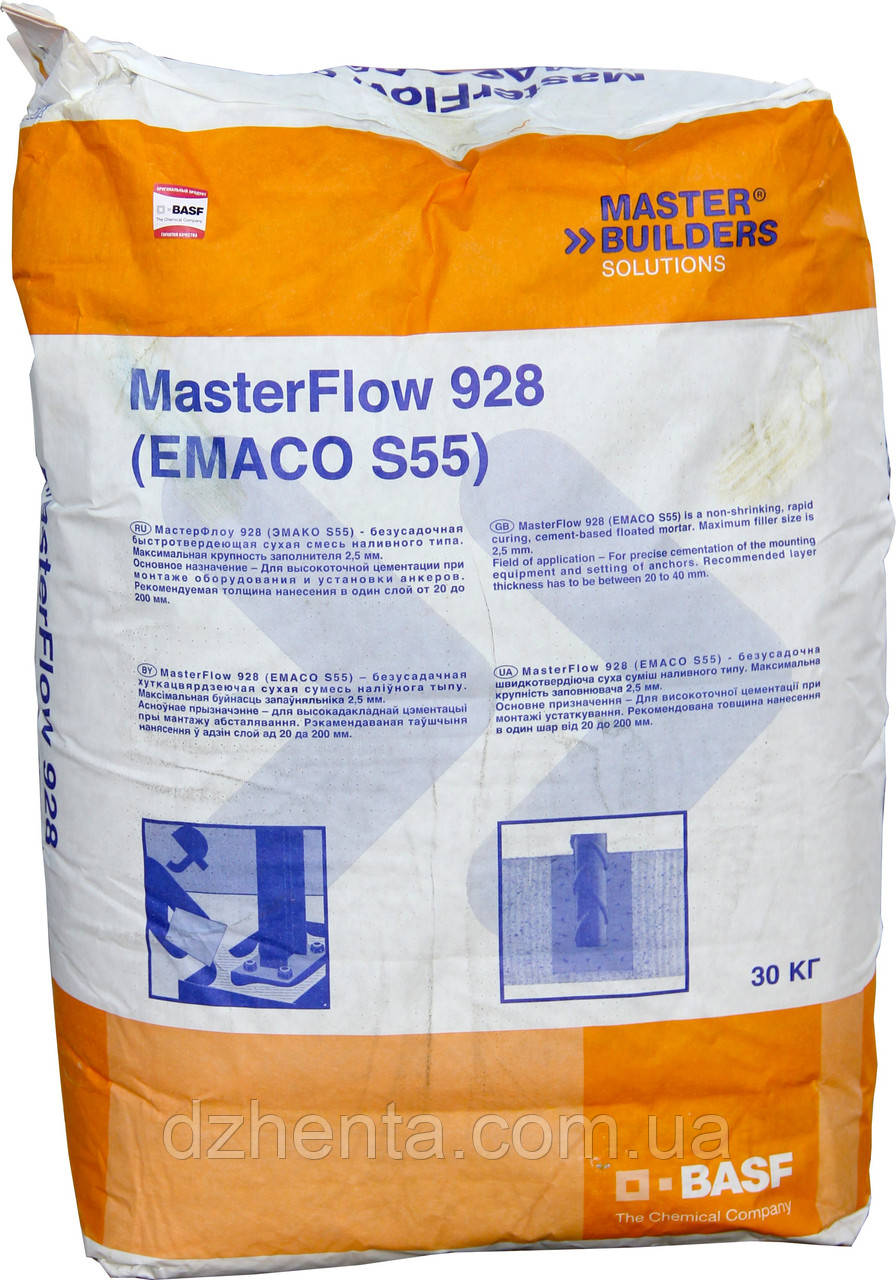 Смесь для цементации оборудования MasterFlow 928