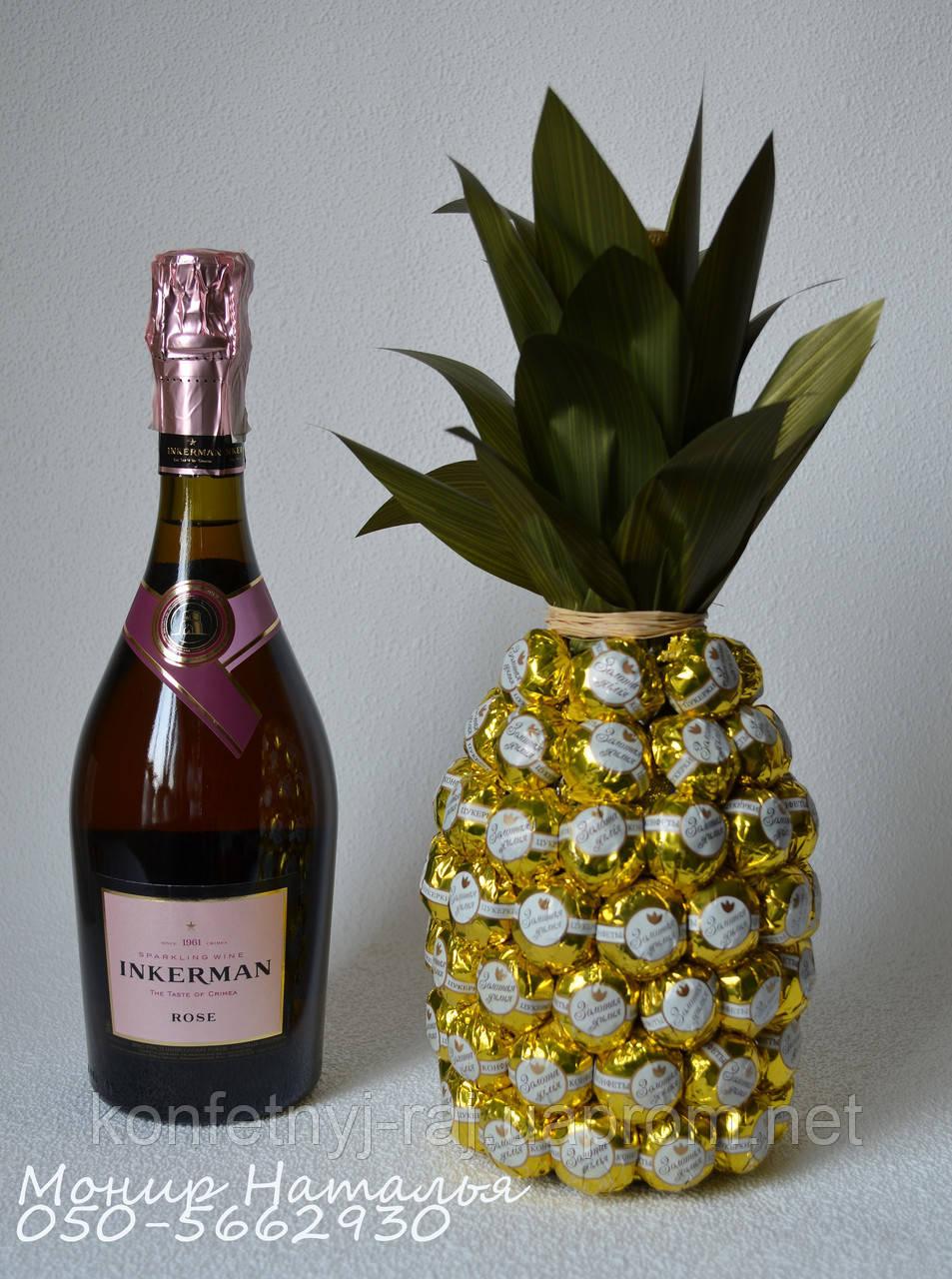 Букет из конфет на шампанское своими руками