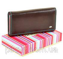 Женский кожаный кошелек Rainbow, клатч, портмоне Dr Bond. Из натуральной кожи. Коричневый