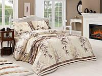 Семейный комплект постельного белья кофейного цвета