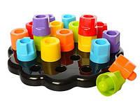 Развивающая игра Цветные гаечки Tots First Chunky Pegs для маленьких детей от 1 года