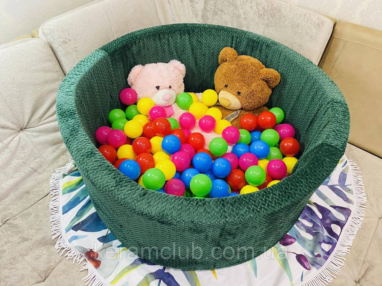 """Детский игровой сухой бассейн с шариками 100х40 см """"Зелёный №1"""""""