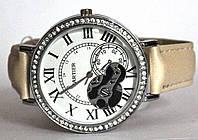 "Часы оптом женские ""открытый механизм"" серебро белый"