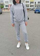 Спортивний костюм жіночий оверсайз, колір сірий, турецька трехнить петля