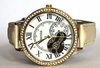 """Часы оптом женские """"открытый механизм"""" золото белый"""