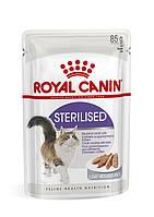 Влажный корм для стерилизованных кошек, Royal Canin Sterilised Loaf паштет / 12шт х 85 г