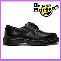 Женские кожаные туфли Dr Martens 3989 Black/черные