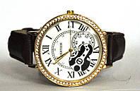 """Часы оптом женские """"открытый механизм"""" золото коричневый"""