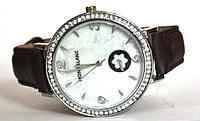 "Часы оптом женские ""цветок"" серебро коричный"