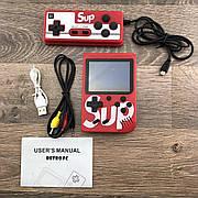 Портативная игровая консоль ретро приставка с джойстиком Sup Game box 400 игр 2play dendy денди красная
