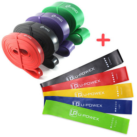 Резинки для фитнеса U-POWEX + Петли U-POWEX, фото 2