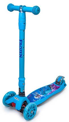Самокат детский Disney (светящиеся колёса) Frozen Фроузен, фото 2