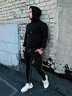 Мужской весенний черный спортивный костюм