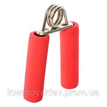 Эспандер MS 1080 кистевой, пружинный, 12,5см, фомовые ручки (Красный MS 1080Red)