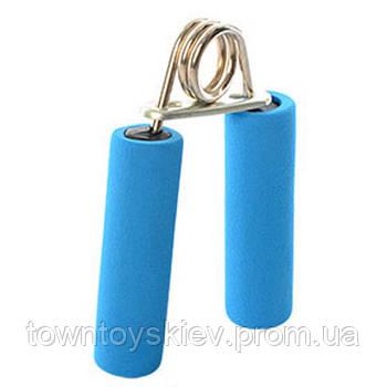 Эспандер MS 1080 кистевой, пружинный, 12,5см, фомовые ручки (Синий MS 1080Blue)