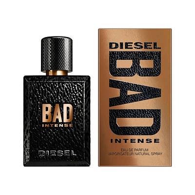 Елітні чоловічі парфуми DIESEL Bad Intense 75ml парфумована вода, чудовий свіжий деревний пряний аромат