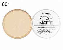 Матирующая пудра от Rimmel Stay Matte 001 Transparent