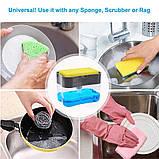 Ручной дозатор пресс для жидкого мыла с губкой Caddy, фото 2