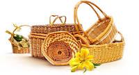 Плетеные изделия из лозы (ручная работа, собственное производство)