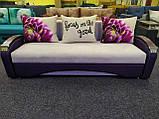 Комфортний диван Сіті з дерев'яними підлокітниками, фото 2