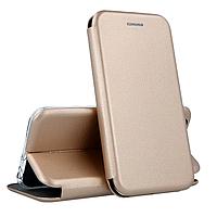 Чехол книжка для Xiaomi Redmi Note 7 (золотой)