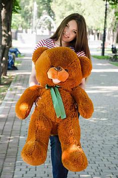 Плюшевий ведмедик Бант 110 см Коричневий