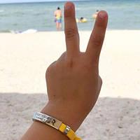 Детские браслеты непотеряйки для безопасности с пластиной под гравировку 176186, фото 1