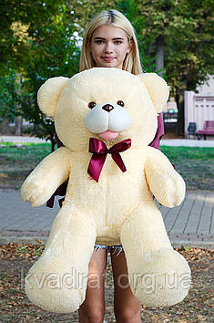 Плюшевий Ведмедик Бант 110 см Персиковий