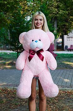 Плюшевий ведмедик Бант 110 см Рожевий