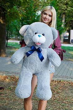 Плюшевий ведмедик Бант 110 см Сірий