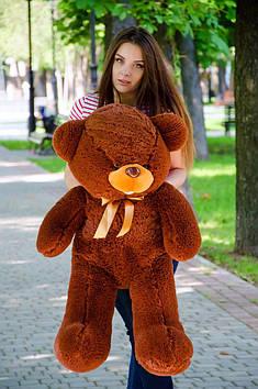 Плюшевий ведмедик Бант 110 см Шоколадний