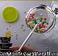 Молд силиконовый кондитерский для леденцов кружочки погремушка 7см из 4х, фото 3