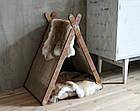 КІТ-ПЕС by smartwood Домик для кошки кота Будка для кошки кота Спальное место, фото 8
