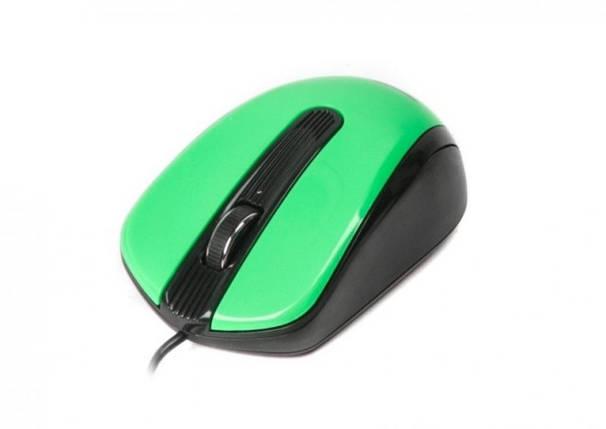 Мышь проводная Maxxter Mc-325-G black/green (Maxxtro), фото 2