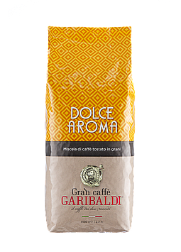 Кофе в зернах Garibaldi Dolce Aroma 1 кг с оттенком терпкости и ароматом элитной арабики.Арабика, робу
