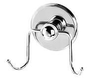 Крючок для ванной настенный двойной Хром