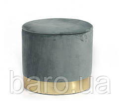 Пуф Голд, мягкий, ткань, цвет серый