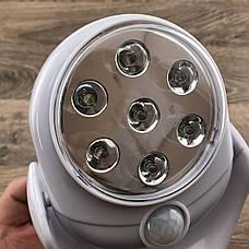 Світлодіодна лампа з датчиком руху light angel led світильник ліхтар освітлення вулична і для дому, фото 3