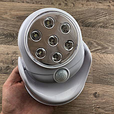 Світлодіодна лампа з датчиком руху light angel led світильник ліхтар освітлення вулична і для дому, фото 2
