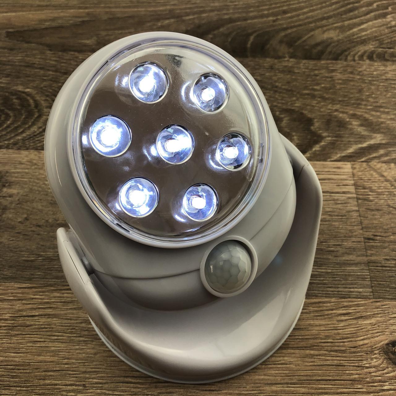 Світлодіодна лампа з датчиком руху light angel led світильник ліхтар освітлення вулична і для дому