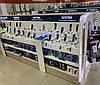 Торговые стеллажи для бренд зон в магазин электроники и бытовой техники. Торговое оборудование производство