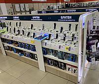 Торговые стеллажи для бренд зон в магазин электроники и бытовой техники. Торговое оборудование производство, фото 1
