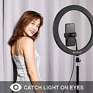 30 см Кільцевої світло (25W) Puluz PKT3061B + стійка, 3200K - 6500K, фото 6