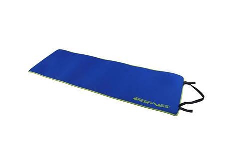Килимок (мат) для йоги та фітнесу SportVida Neopren 6 мм SV-HK0038 Blue, фото 2