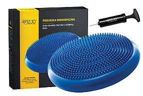 Балансировочная подушка сенсомоторная массажная 4FIZJO PRO+ синяя