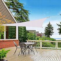 Тент-вітрило тіньовий для дому, саду та туризму Springos 3 x 3 x 3 м SN1017 Grey, фото 3