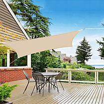 Тент-парус теневой для дома, сада и туризма Springos 4 x 2 м SN1038 Beige, фото 2